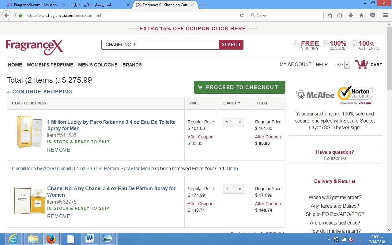افضل موقع شراء عطور اصلية fragrancex